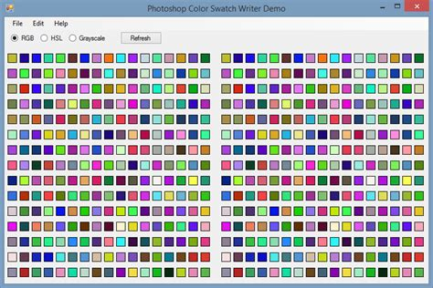 Writing Photoshop Color Swatch (aco) files using C#