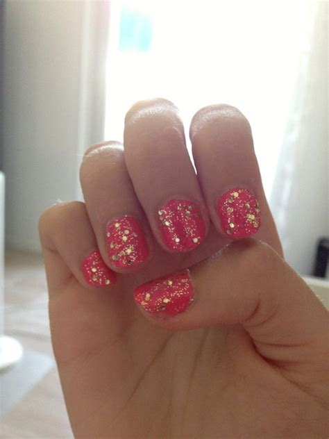 Pink And Gold Glitter Nails Pictures, Photos, and Images
