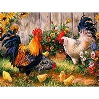 Diy Diamond Painting Decorative Painting Chickens In The
