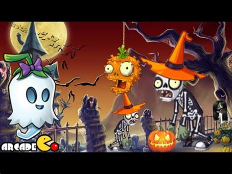 Plants Vs Zombies 2: Halloween Pinata Party Night 2 Ghost
