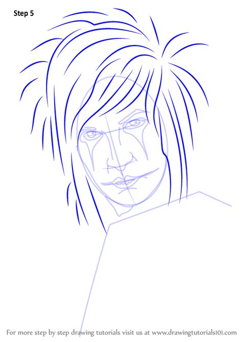 Learn How to Draw Jinxx Black (Musicians) Step by Step