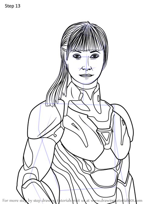 Learn How to Draw Pepper Potts from Avengers Endgame