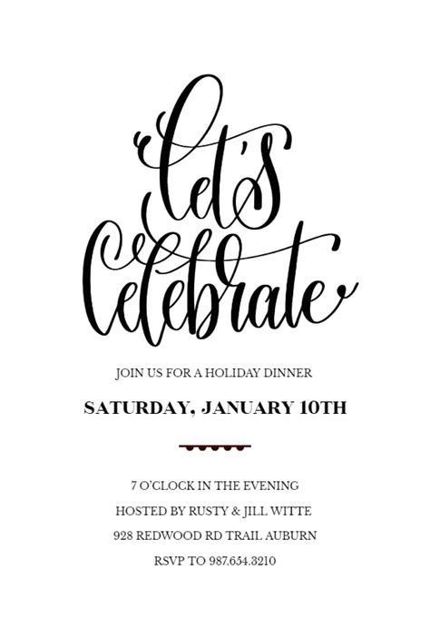 Lets Celebrate - Party Invitation Template (Free