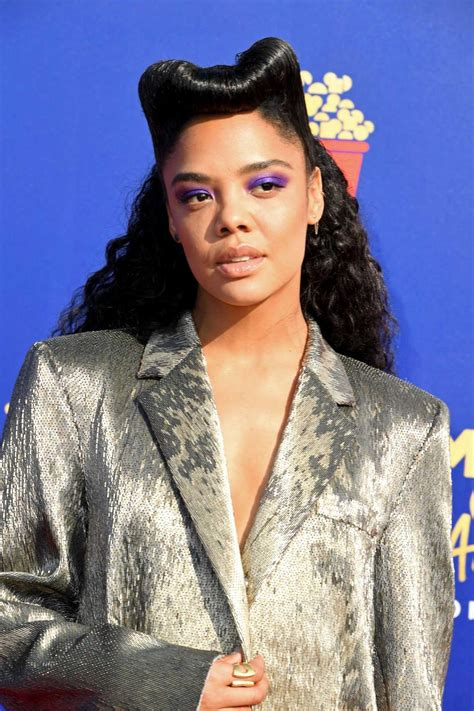 Tessa Thompson Attends 2019 MTV Movie and TV Awards at