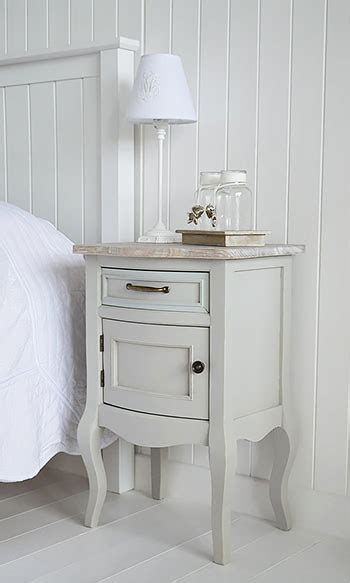 Bridgeport grey lamp table with cupboard - living room
