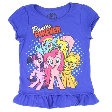 Ponies Forever My Little Pony Royal Blue Girls Shirt With