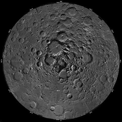 Space Images | North Pole Region of the Moon as Seen by