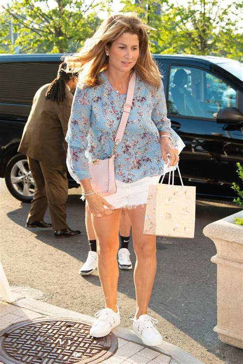 Mirka Federer Attends the Day 2 of the US Open Tennis in
