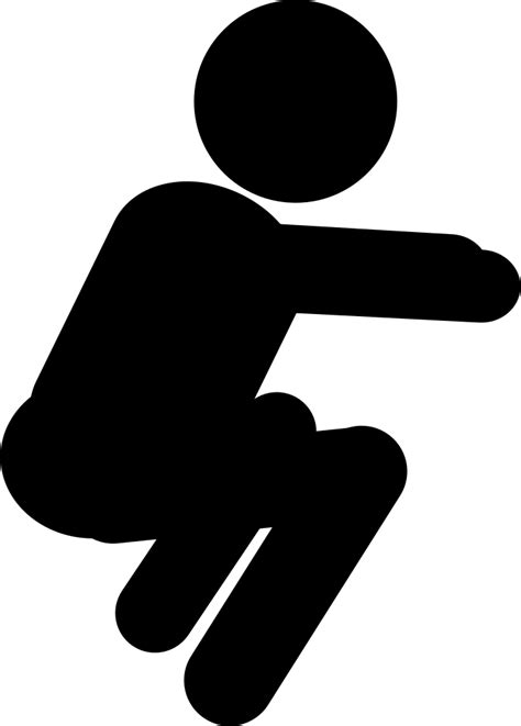 Squat Svg Png Icon Free Download (#396556