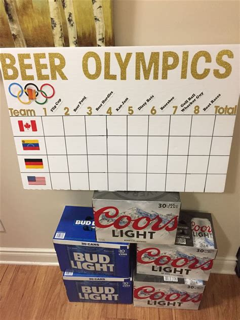 Pin on Beer Olympics