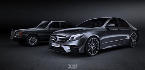 W123 & W213 Mercedes E-Class Sedans Rendered To Depict 40