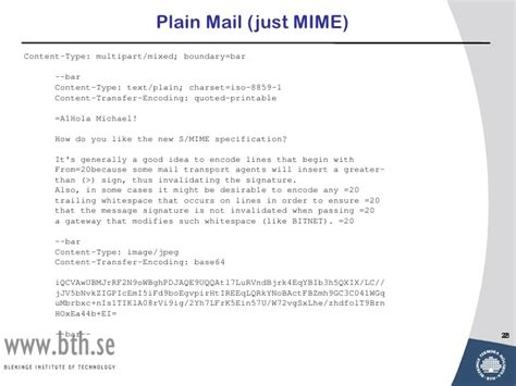 Lecture 8 mail security