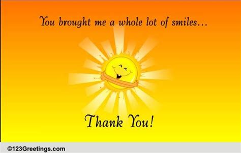 Thank You For The Smiles