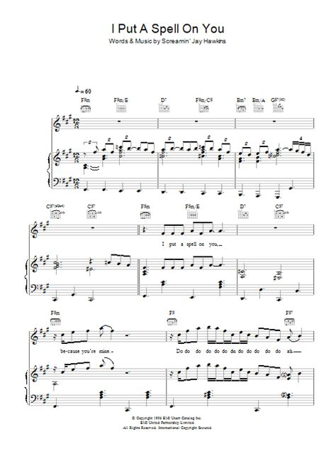 I Put A Spell On You | Sheet Music Direct