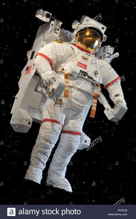 NASA's astronaut in full gear including a jet pack