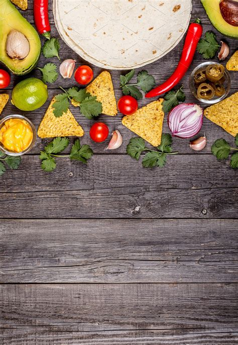 mexican food background ~ Food & Drink Photos ~ Creative