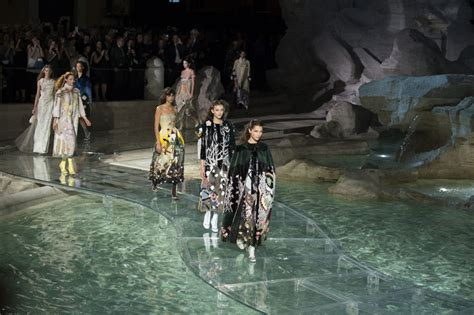 Models Walked on Water at Fendi's 90-Year Anniversary Show