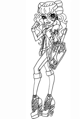 Monster High Operetta coloring page | Free Printable