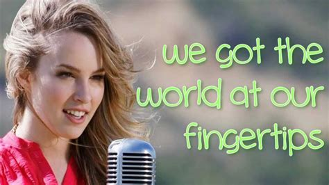 Bridgit Mendler - We Can Change The World LYRICS ON SCREEN