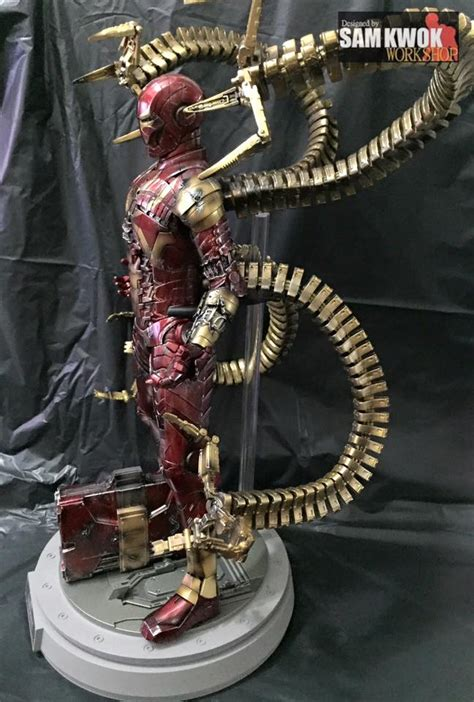 Cool Custom-Made Hot Toys Spider-Man Action Figures - Iron