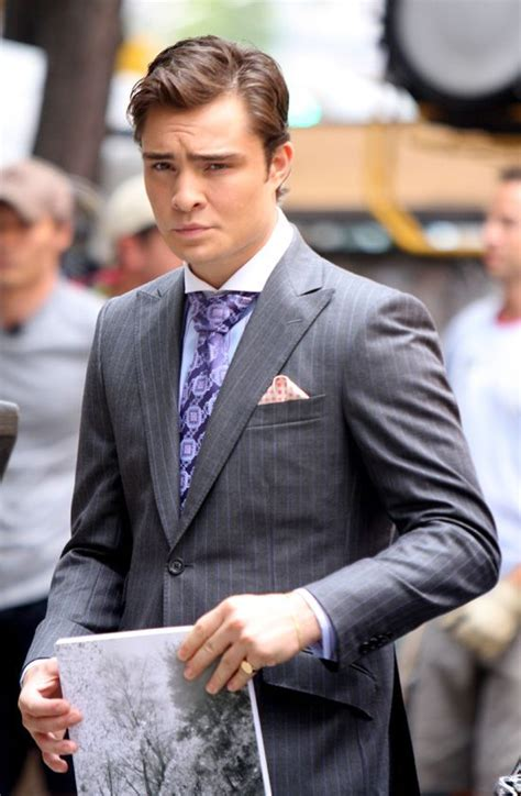 Handsome Ed Westwick On The Gossip Girl Set - Baby's